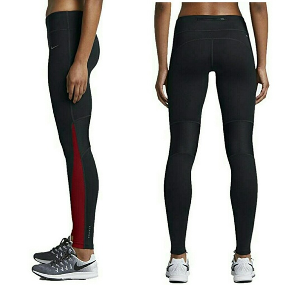 Pants NWT Size XS NIKE POWER Women/'s Dri-Fit Running Cropped Athletic Leggings